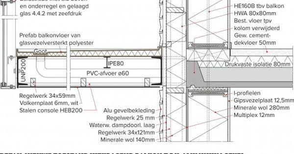 Detail Nieuwe Toestand Uitkragend Balkon T P V Aluminium