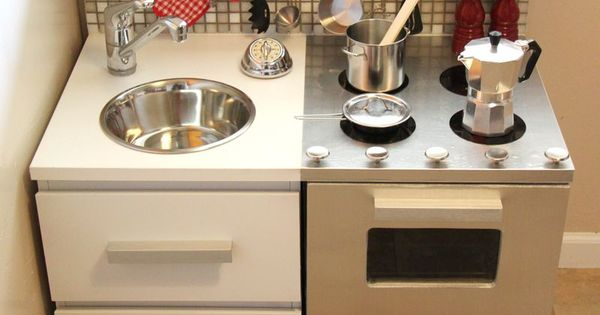 DIY Play Kitchen Ideas | handmade kids play kitchen designs and recycling