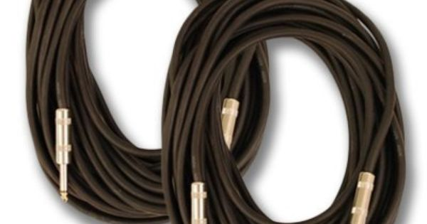 Heavy Duty Pair of 35 Foot 1//4 to 1//4 Pro Audio PA DJ Speaker Cable 14 Gauge FS35/_2Pack Seismic Audio