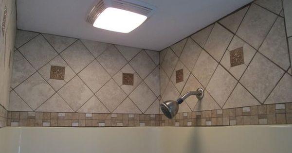 Tile Above Fiberglass Tub Shower Enclosure Shower Wall Ideas Pinterest Shower Enclosure