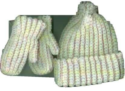 Crochet Pattern For Baby Hat And Scarf : Bevs Marvelous Mittens, Hat and Scarf for Preschoolers ...
