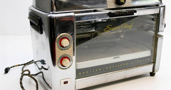 Vtg broiler rotisserie fryer broil quik super chef roaster - Super chef 2000 ...