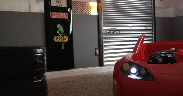 Car Bedroom Garage Theme Minus The Little Boy Bed Of Course Christian
