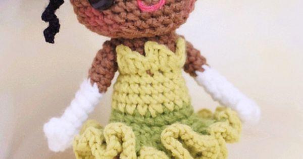 Designer Crochet Amigurumi Patterns Merida Warrior Princess : Tiana-05 Inspiration, Crochet and Amigurumi