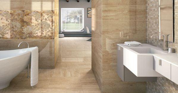 Un elegante y sofisticado dise o para el cuarto de ba o - Combinacion de azulejos ...
