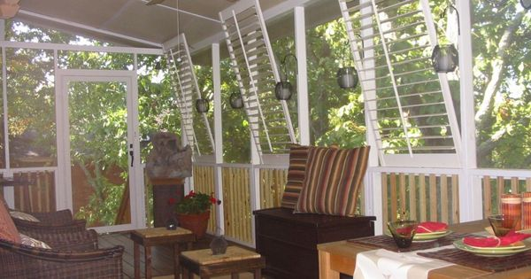 back porch, plantation shutters | For the Home | Pinterest ...