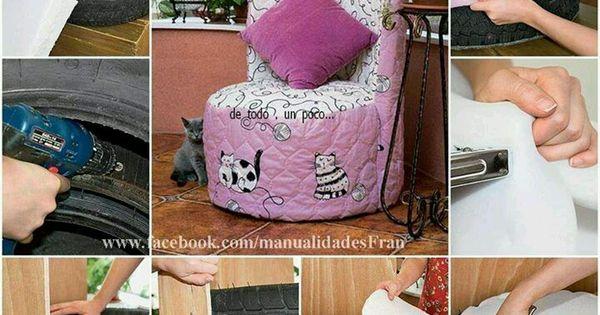 Garden decor crafts pinterest - Tire Chair Jennifer S Room Pinterest Tire Chairs