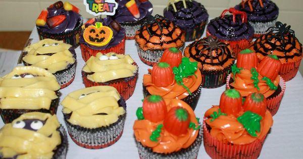 Halloween cupcakes, Homemade chocolate and Halloween on Pinterest
