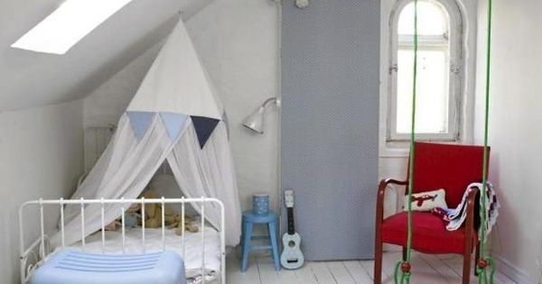 Bright green indoor swing in childrens room designs for for Swing for kids room