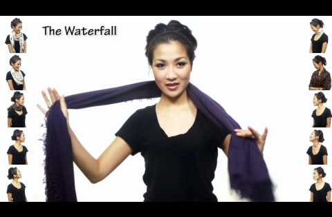 Best scarf tying video ever...and very intertaining! 25 Ways to Wear a