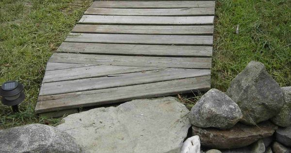 Diy Wood Walkway Who Needs Concrete When You Have Free Pressure Treated Lumber Outdoor
