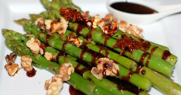 Recipe: Steamed Asparagus with Star Anise infused ...