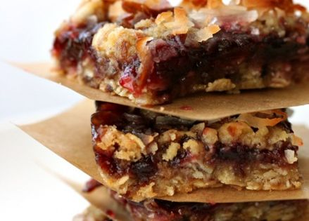 Oatmeal Coconut Raspberry Bars 1 1/2 cups sweetened flaked coconut 1 1/4