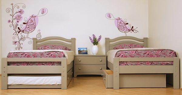 Camas individuales estero con cama ocultable charola for Recamaras con camas individuales