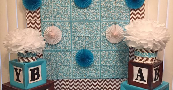 Baby Shower Decorations Milton Keynes ~ My dessert table back drop that made using napkins