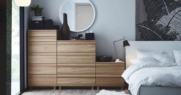 ein schlafzimmer mit oppland kommode mit 2 schubladen oppland kommode mit 4 schubladen und. Black Bedroom Furniture Sets. Home Design Ideas