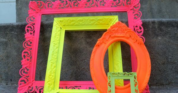 Spray paint frames