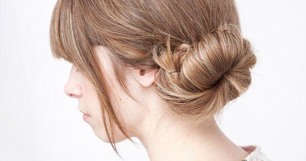 Side bun hairstyle tutorial