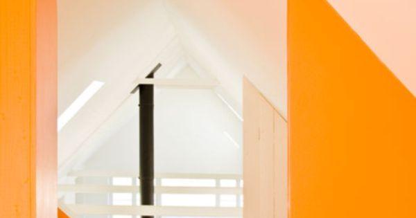 Summer House / LASC Studio orange walls