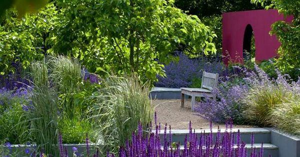 Purple Modern Garden Modern Garden Design Landscape Design