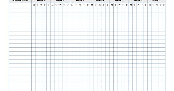 free printable attendance sheet template  u2026