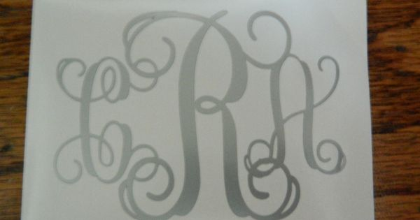 Peel And Stick Monogram Letters Size 3 Quot X4 Quot Only For