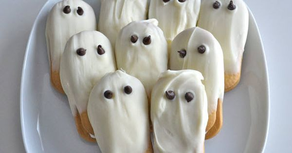 White Chocolate Ghost Cookies halloween treats