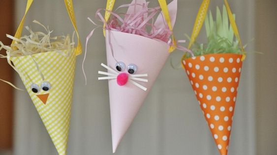 EASTER BASKETS A kid idea to make and fill and secretly hang