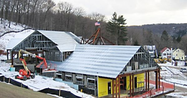 Cold Spring Harbor Library With Light Gauge Metal Trusses From Reliable Truss Are Now Fully Installed Roofing Systems House Styles Steel Trusses