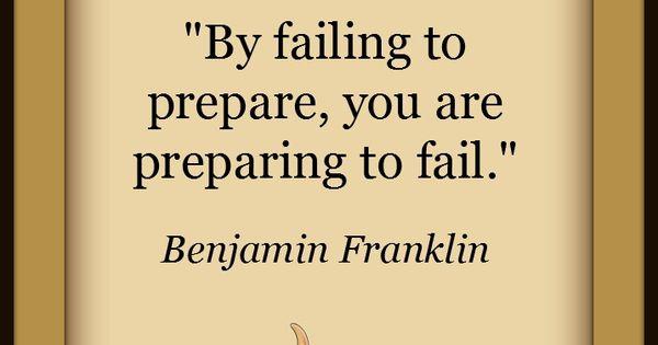 By failing to prepare,... Wisdom