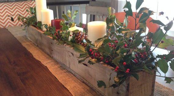 Centro de mesa navide o de palets decoraci n navide a - Adornos de mesa navidenos ...