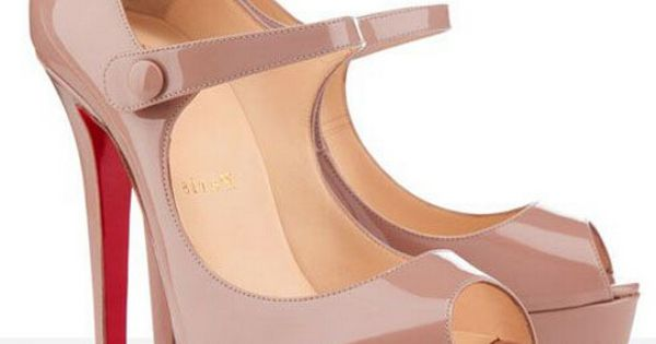 Christian Louboutin Bana 140mm Peep Toe Pumps Nude CKV Is So Popular
