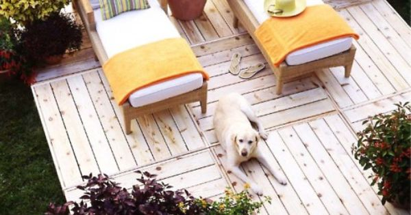 home-made sun deck in the back yard! diy backyard deck projects patio