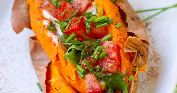 Skinny Stuffed Sweet Potatoes – Healthy Low Calories Recipes
