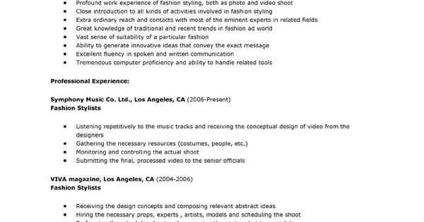 This Resume Example Is For Job