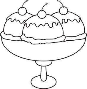 Ice Cream Shake Black And White Clipart Gambar Kartun Es Krim Kartun