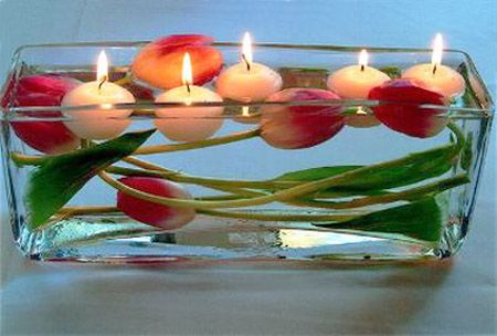 20 Candles Centerpieces Romantic Table Decorating Ideas For Valentines Day Candle Centerpieces Tulip Centerpiece Floating Candles
