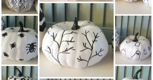 Hand Sketched Sharpie Pumpkins DIY | The Happy Housie