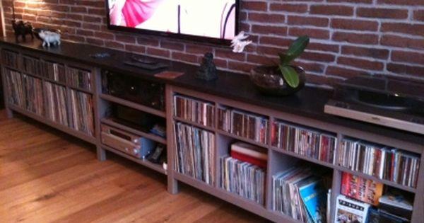 mes cd et vinyles enfin r unis t moignage sur votre meuble ikea customis et relook. Black Bedroom Furniture Sets. Home Design Ideas