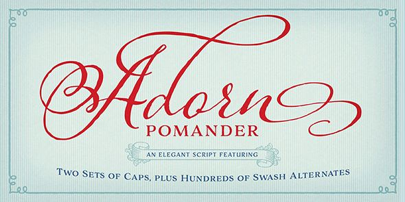 Adorn Pomander Fonts – Adorn Pomander, is a whimsical butterfly of a font: light and airy