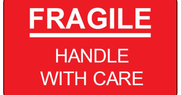 Fragile Handle With Care Label Template Print These Out And Put This On Your Fragile Packages Fragile Label Labels Printables Free Label Templates