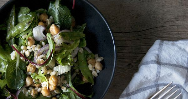 chickpea an dill barley salad with grilled fennel and snap peas | s a ...
