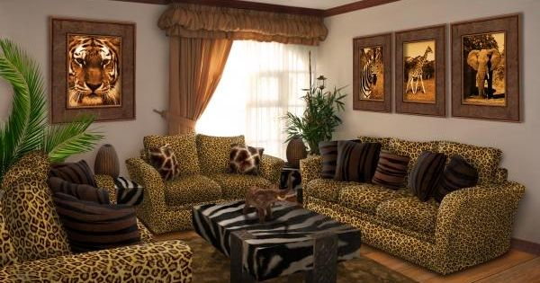 Safari living room picture for interior transform for Safari decorating ideas for living room