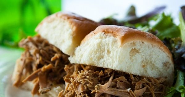 This slow cooker Cuban Pork Sliders recipe is a quick and easy