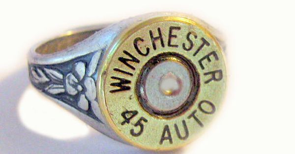 Winchester Bullet Ring 45 Auto Gorgeous mixed metals by lizzybleu, $20.00 Holy