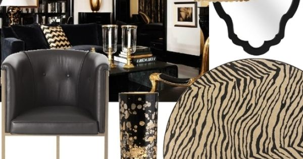 Black and Gold Room