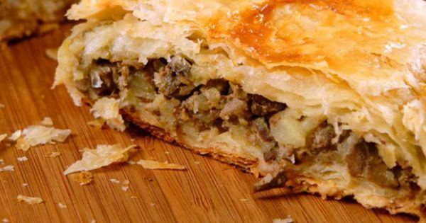 Goat Cheese, Sausage And Mushroom Wellington Recipe — Dishmaps