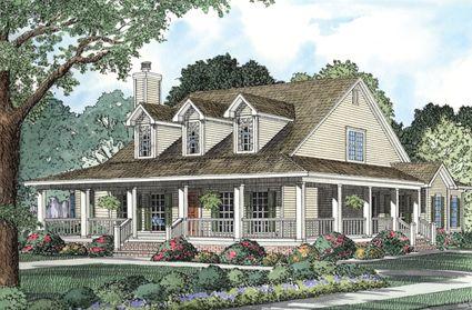 Wrap Around Porch Farmhouse Style House Plans Southern House Plans House Plans Farmhouse