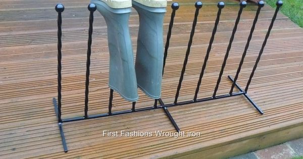 diy shoe boot storage iron black welly boot shoe holder boot rack all sizes ebay. Black Bedroom Furniture Sets. Home Design Ideas