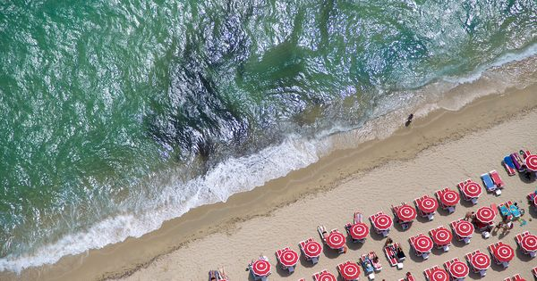 neat series of aerial beach photos by Gray Malin